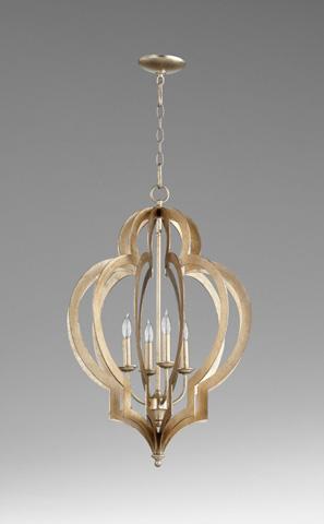 Cyan Designs - Vertigo Silver Leaf Chandelier - 05971