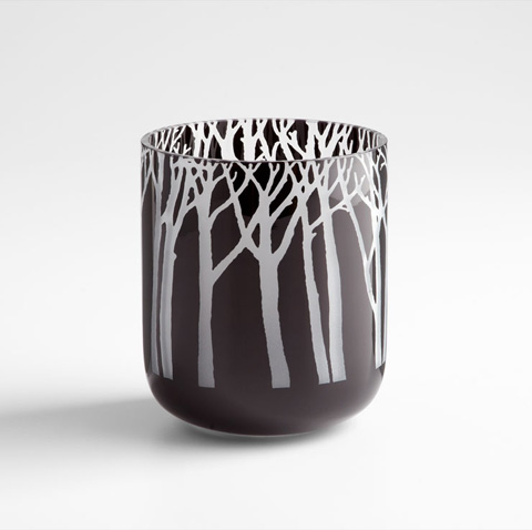 Cyan Designs - Small Obsidian Forest Vase - 06001