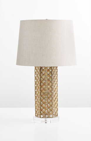 Image of Woven Gold Table Lamp