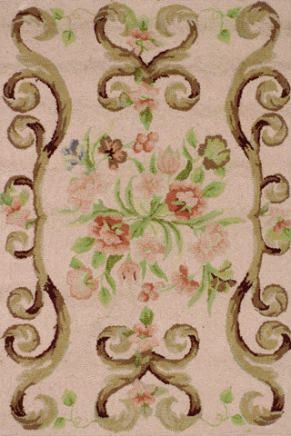 Image of Siena Rose Wool Micro Hooked 8x10 Rug