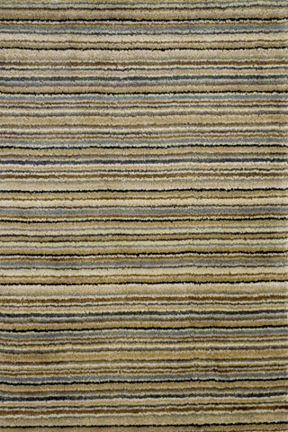 Image of Brindle Stripe Mountain Hand Knotted 8x10 Rug