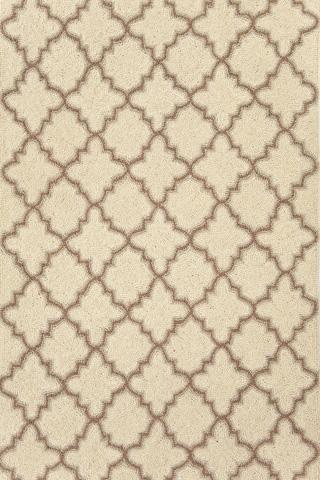 Dash & Albert Rug Company - Plain Tin Ivory Wool Hooked 8x10 Rug - RDA169-810