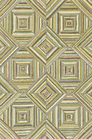 Dash & Albert Rug Company - Kaledo Green Cotton 8x10 Rug - RDA231-810