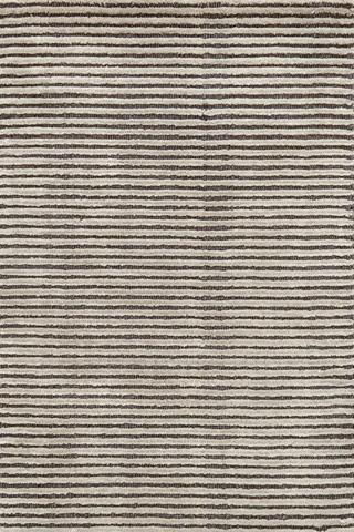 Dash & Albert Rug Company - Cut Stripe Gray Viscose 8x10 Rug - RDA242-810