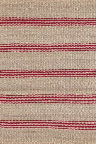 Dash & Albert Rug Company - Jute Ticking Crimson Woven 8x10 Rug - RDA320-810