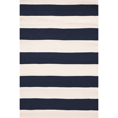 Image of Catamaran Stripe Navy 8.5x11 Rug