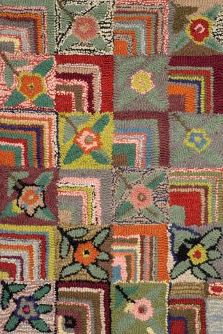 Dash & Albert Rug Company - Gypsy Rose Wool Hooked 8x10 Rug - RP2W-810
