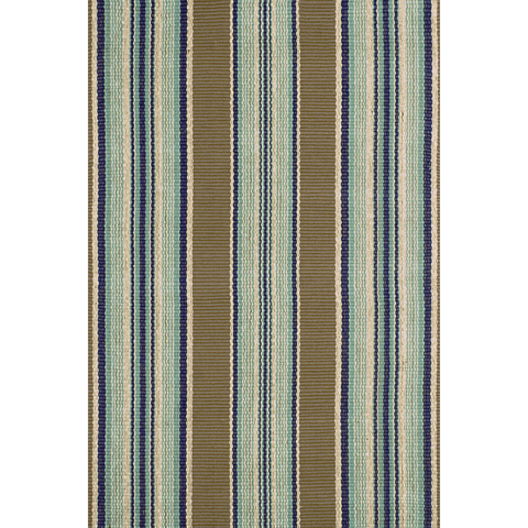 Dash & Albert Rug Company - Blue Heron Stripe Cotton Woven 8x10 Rug - RP41-810