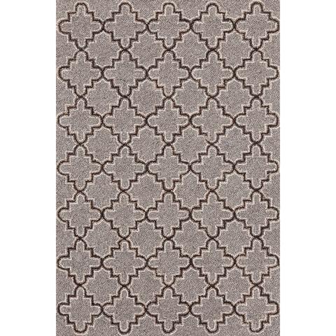 Dash & Albert Rug Company - Plain Tin Grey Wool Micro Hooked Rug - RDA295-58