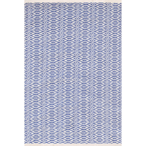 Dash & Albert Rug Company - Fair Isle French Blue/Ivory Cotton Woven Rug - RDA331-912