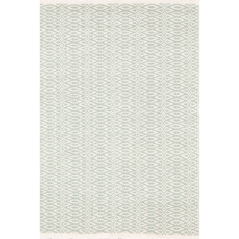 Dash & Albert Rug Company - Fair Isle Ocean/Ivory Cotton Woven Rug - RDA332-912