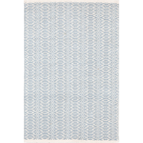 Dash & Albert Rug Company - Fair Isle Swedish Blue/Ivory Cotton Woven Rug - RDA335-912
