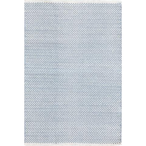 Dash & Albert Rug Company - Herringbone Swedish Blue Woven Cotton Rug - RDA360-912