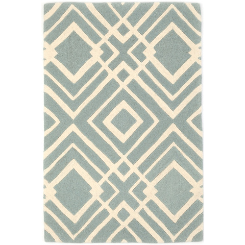 Image of Gracie Blue Wool Tufted Rug