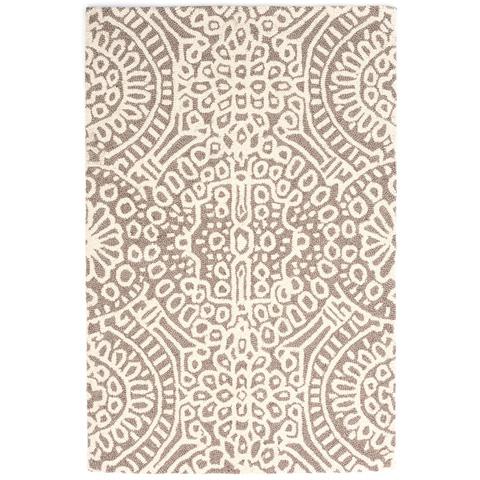 Dash & Albert Rug Company - Temple Taupe Wool Micro Hooked Rug - RDA423-58