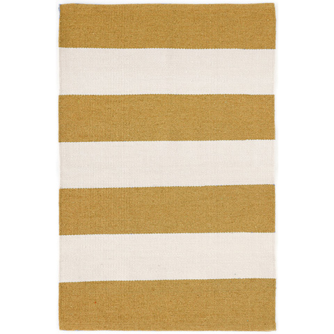 Dash & Albert Rug Company - Falls Village Stripe Ocher Indoor/Outdoor Rug - RDB310-58