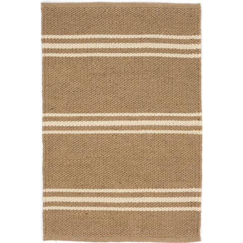 Dash & Albert Rug Company - Lexington Ivory/Camel Indoor/Outdoor Rug - RDB337-58