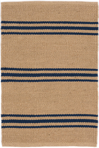 Dash & Albert Rug Company - Lexington Navy/Camel Indoor/Outdoor Rug - RDB338-58