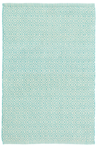 Image of Crystal Aqua/Ivory Indoor/Outdoor Rug 8x10