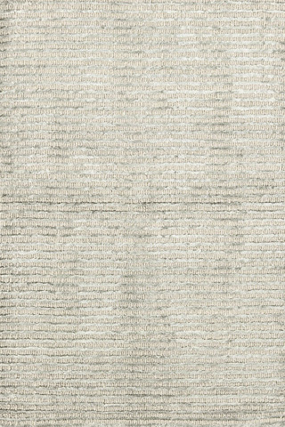 Image of Cut Stripe Silver Viscose Hand Knotted Rug 8x10