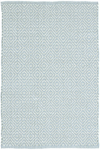 Image of Beatrice Blue Woven Cotton Rug 8x10