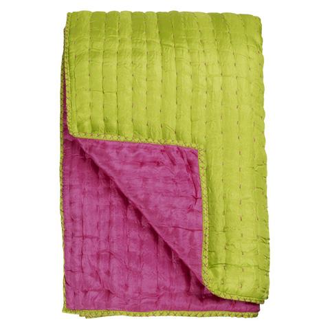Designers Guild - Chenevard Fuchsia & Lime Standard Quilt - BSPR001/04