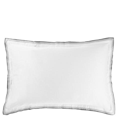 Designers Guild - Astor Charcoal/Dove Queen Sham - BEDDG0753