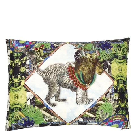 Designers Guild - Jungle Leo Perroquet Throw Pillow - CCCL0146