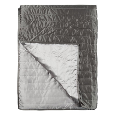Designers Guild - Tiber Slate and Zinc Medium Quilt - QUDG0029