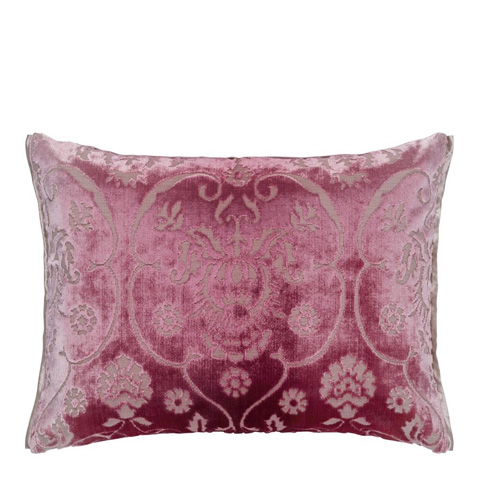Image of Polonaise Peony Throw Pillow