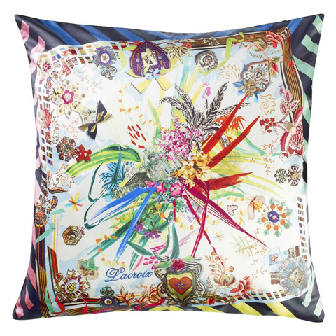 Image of Rock And Versailles Multicolore Throw Pillow