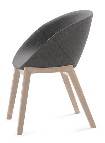 Domitalia - Coquille Arm Chair - COQUI.P.L0F.FRS.8ID