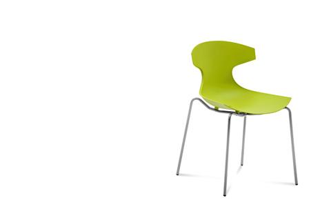 Domitalia - Echo Stacking Side Chair - ECHO.S.00F.AE.PVA