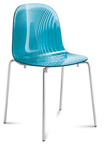 Domitalia - Playa Stacking Chair - PLAYA.S.02F.CR.SAZ