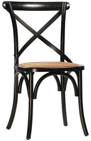 Gaston Antique Black Dining Chair