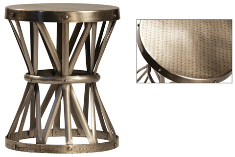 Dovetail Furniture - Antique Nickel Lionel Side Table - AC047N