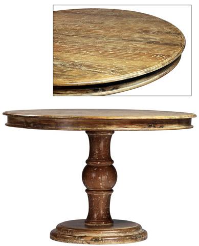 Dovetail Furniture - Pedestal Dining Table - AF1983LUC