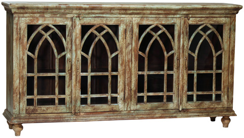 Dovetail Furniture - Arched Old World Sideboard - AJ012