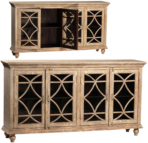 Dovetail Furniture - Bacca Sideboard with 4 Doors - AJ139