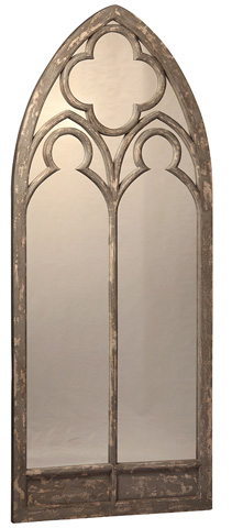 Dovetail Furniture - Mirror Frame in Grey Wash Finish - AK258