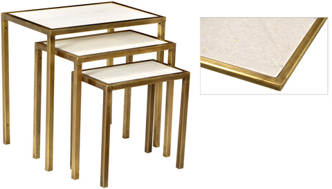 Dovetail Furniture - Nest Of 3 Tables - AL286