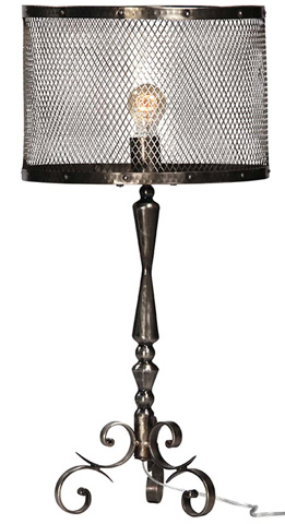 Dovetail Furniture - Rose Table Lamp with Shade - AL295