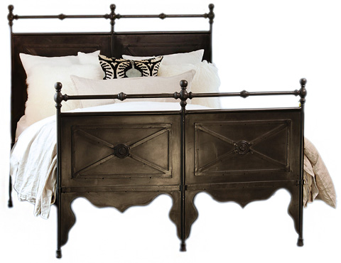 Dovetail Furniture - Queen Channing Iron Bed - AL359Q
