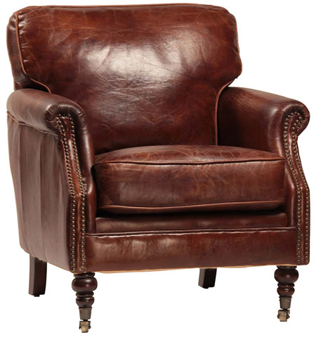Dovetail Furniture - Leather Chair - DOV1105