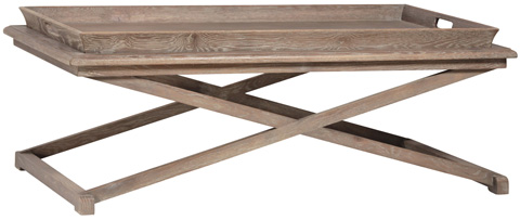 Dovetail Furniture - Caprice Rectangular Coffee Table - DOV2557