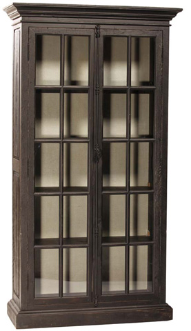 Dovetail Furniture - Barnsley Black Cabinet - DOV384BL