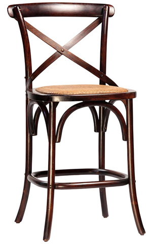 Dovetail Furniture - Antique Brown Gaston Counterstool - DOV768CS