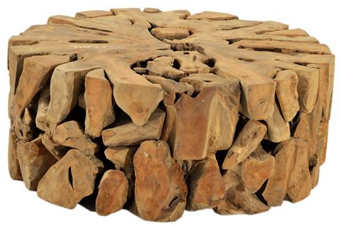 Dovetail Furniture - Round Teak Coffee Table - JO3103