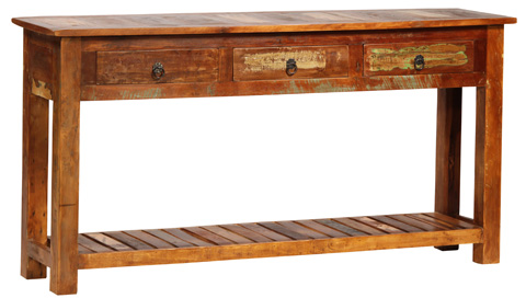 Dovetail Furniture - Nantucket Wood Console - NE437
