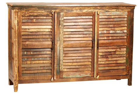 Dovetail Furniture - Nantucket Louvered Sideboard - NE87